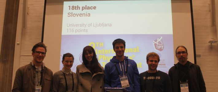 Slovenia in the International Physicists' Tournament!